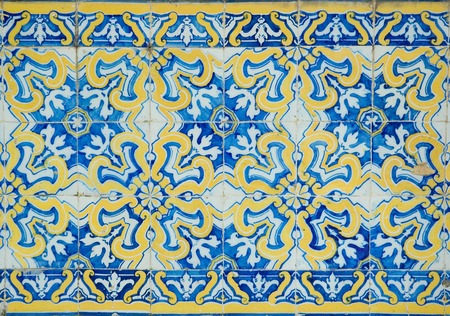 sintra: vintage tiles from Sintra, Pertugal Stock Photo