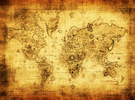 ancient map of the world Stock Photo
