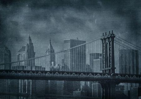 vintage grunge image: d'epoca grunge immagine della citt� di New York