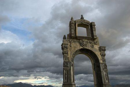Indigenous arch, La Paz, Bolivia photo