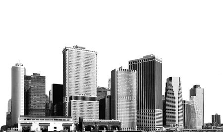 cityscape - silhouettes of skyscrapers over white background Stock Photo - 2743510