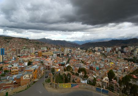 Panoramic view of La Paz, Bolivia photo