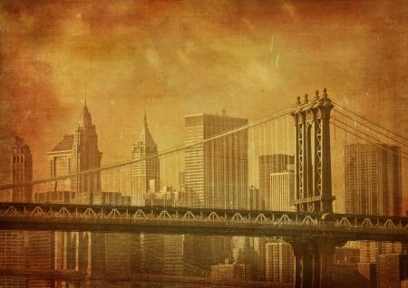 vintage grunge image: d'epoca grunge immagine di New York City