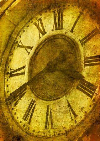 grunge image of ancient clock photo
