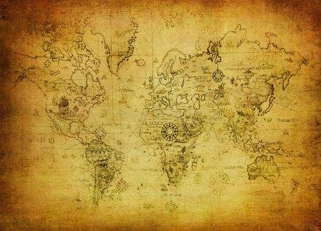 Atlas: alte Karte der Welt
