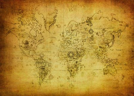 old world: ancient map of the world  Stock Photo