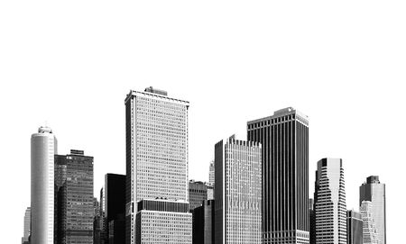cityscape - silhouettes of skyscrapers over white background Stock Photo - 2935894