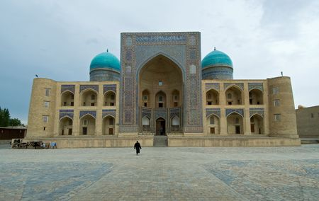 uzbekistan: Miri-arab madrasah, Bukhara, Uzbekistan Stock Photo