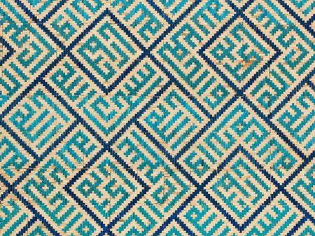 Tiled background, oriental ornaments from Uzbekistan  Stock Photo