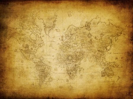 antique map: ancient map of the world  Stock Photo
