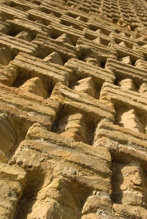 perfectly textured ancient brick pattern photo