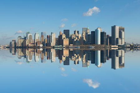 panorama de Manhattan, à New York Banque d'images