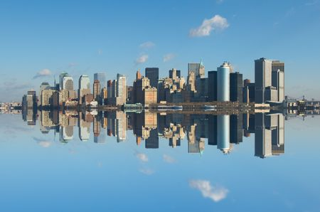 panorama of manhattan, new york photo