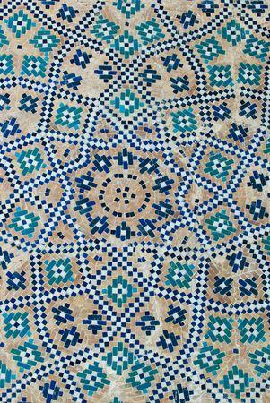 samarkand: Tiled background, oriental ornaments from Uzbekistan  Stock Photo