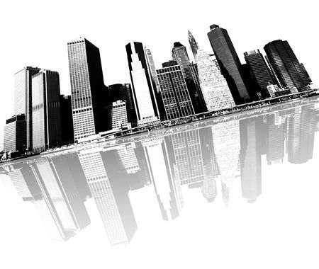cityscape - new york city skyline Stock Photo - 3057605