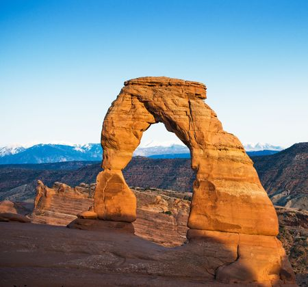 national scenic trail: Delicate arch, Arches National Park, USA