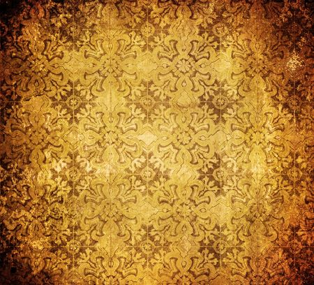 detailed image: highly detailed image of vintage wallpaper Stock Photo