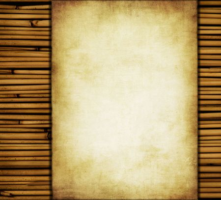 bamboo frame: grunge background with space for text or image