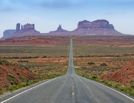 tribal park: The Road to Monument Valley, Utah, USA Stock Photo