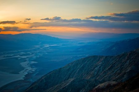 Sunset over Death Valley, California, USA photo
