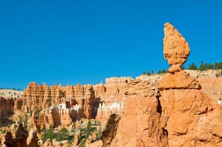 hoodoos: Red pinnacles (hoodoos) of Bryce Canyon, Utah, USA