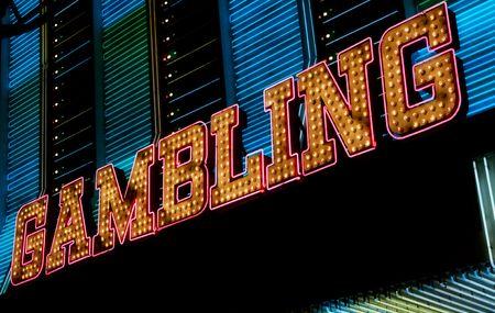 Gambling neon sign, Las Vegas photo
