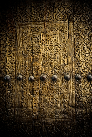keyholes: close-up image of ancient doors