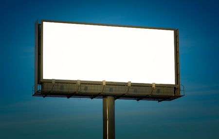 blank billboard, just add your text Stock Photo