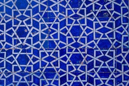 uzbekistan: Tiled background with oriental ornaments