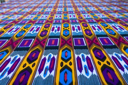 uzbek: traditional uzbek textile with oriental ornaments