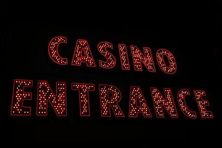 Casino entrance neon sign, Las Vegas photo
