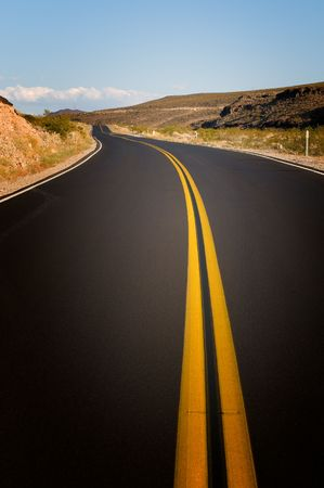 vibrant image of highway and blue sky Stock Photo - 3356540
