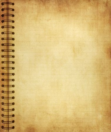 detailed image: Highly detailed image of a page from old grunge notebook