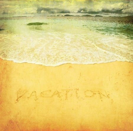 vacation, grunge image of a beach photo