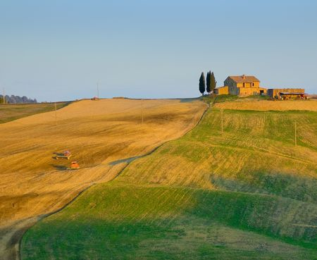 image of typical tuscan landscape photo