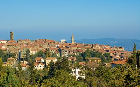 agriturismo: Medieval town in Montalcino area, Tuscany, Italy