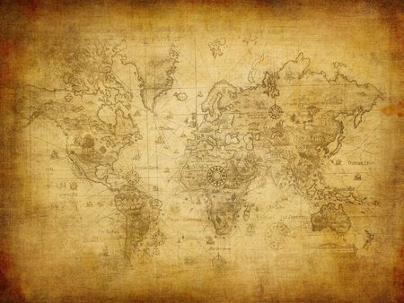 ancient: ancient map of the world  Stock Photo