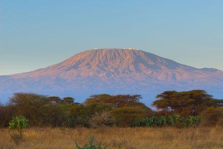 glacier national park: kilimanjaro mountain in the sunrise Stock Photo