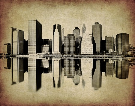 grunge image of new york skyline Stock Photo - 3961166