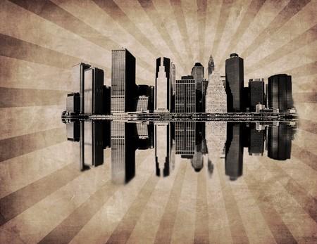 grunge image of new york skyline Stock Photo - 4003456