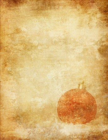 bauble over vintage paper, nice christmas background Stock Photo - 4037650