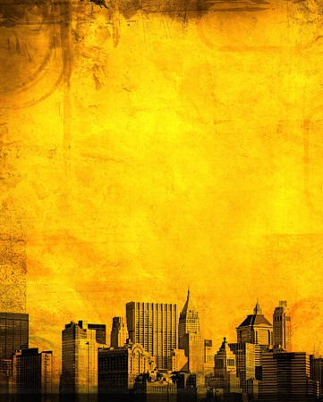 grunge image of new york skyline Stock Photo - 4108139