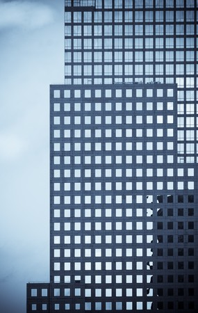 erect: windows of office buildings, cool business background