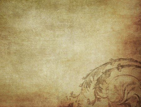 worn paper: grunge floral background with space for text or image Stock Photo