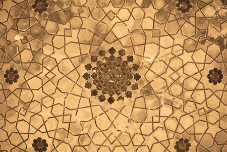 moslem: Dome of the mosque, oriental ornaments from Bukhara, Uzbekistan