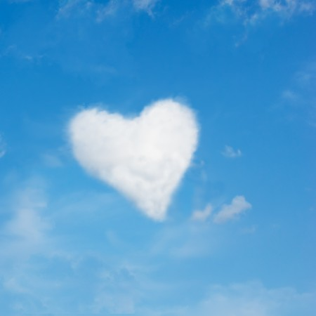 heart shaped cloud, perfect valentine's day background Stock Photo - 4175885