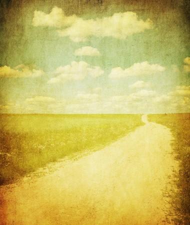 grunge image of contruside road Reklamní fotografie