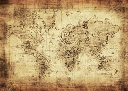 rękopis: starożytna mapa świata Zdjęcie Seryjne