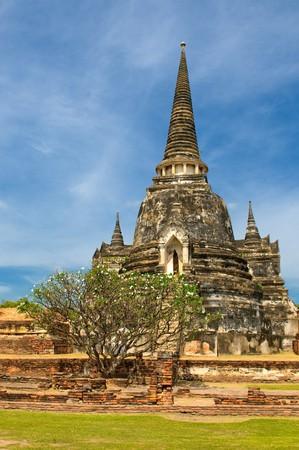 stupas: Stupas of Wat Si Sanphet, Ayutthaya, Thailand Stock Photo