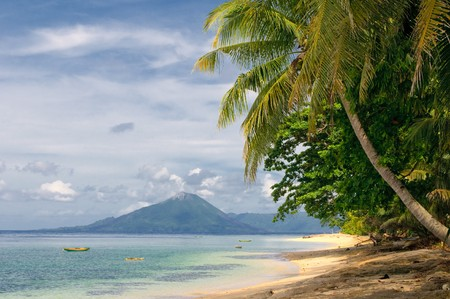 tropical beach, banda islands, indonesia  photo
